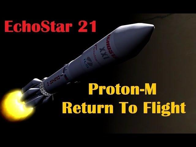Proton M Rocket Returns to Flight Launches EchoStar 21 Satellite