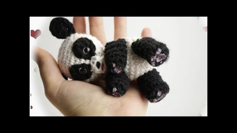 Oso panda Amigurumi, crochet paso a paso