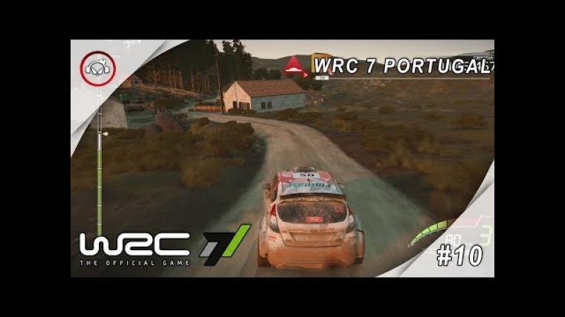 WRC 7 PORTUGAL10 PRIMEIRO LUGAR GAMEPLAY @1080p (30ᶠᵖˢ) FULL HD ✔ PT-BR