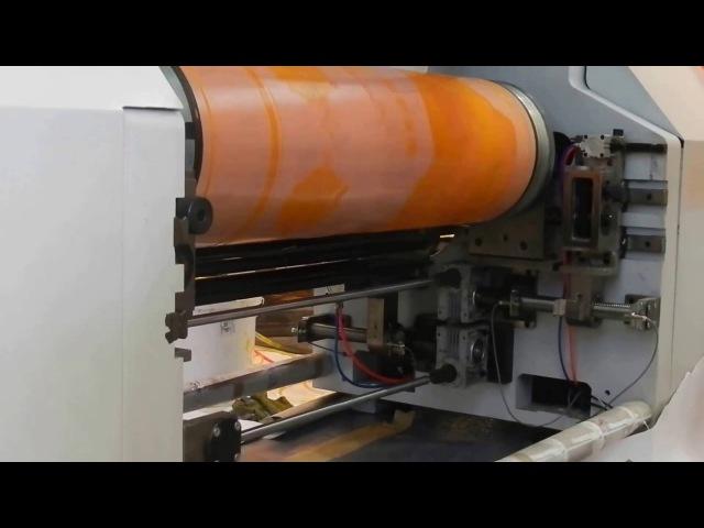 Широкоформатная флексографская печатная машина горизонтального построения - флексографская машина