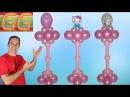Como hacer columnas de globos - decoracion con globos - decoracion para baby shower