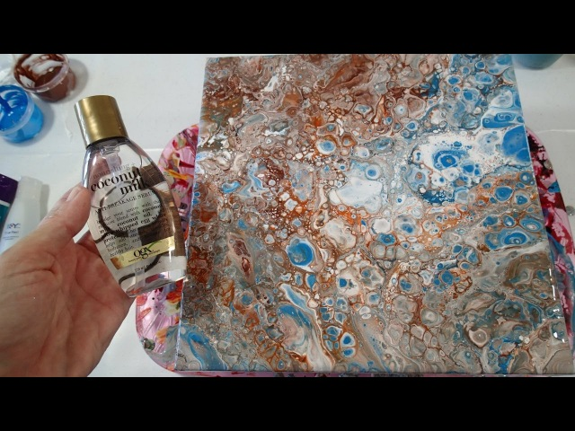 Testing Dimethicone for Acrylic Pouring Cells: Coconut Milk Hair Serum (Part 3)