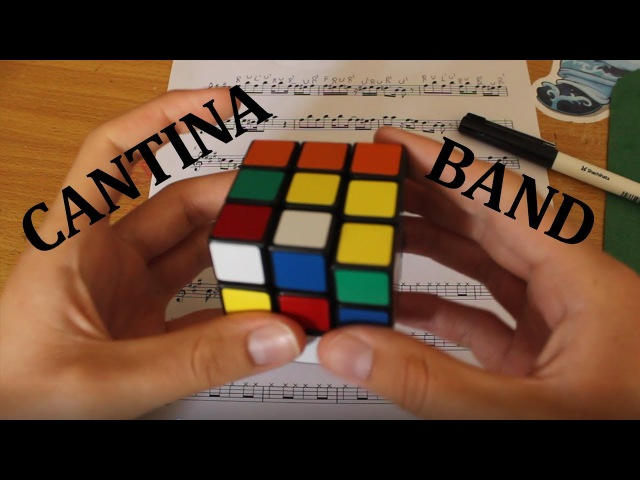 Cantina Theme Played By Rubik's Cube Whilst Being Solved