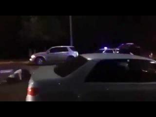 В Усть-Каменогорске патрульный полицейский сбил двух пешеходов