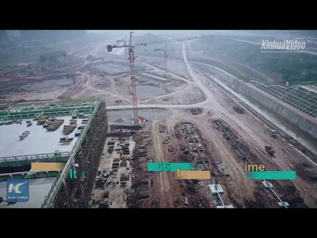 Largest in China! Gigantic rail depot being built, able to handle 66 trains at one time