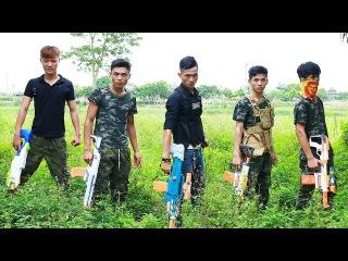 3T Nerf War : Squad Alpha Man Special Police Nerf guns Fight Diamond Bandits