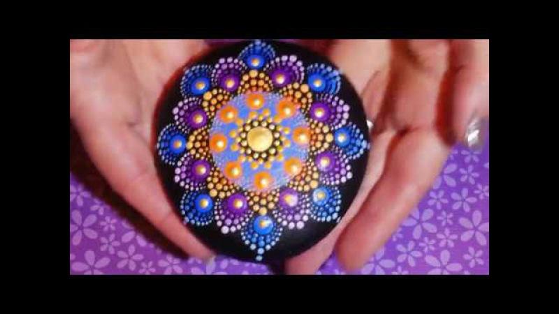 Создание точечных мандал by Kristin Uhrig -- Фантастический цветок