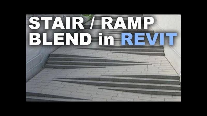 Modeling a Stair / Ramp blend in Revit Tutorial