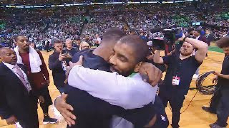 LeBron James Hugs Kyrie Irving and Both Greet Each Other After Cavaliers Blow Out Celtics смотреть онлайн без регистрации
