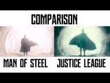 Comparison «Kal-El in Scout Ship» 'Man of Steel' & 'Justice League'
