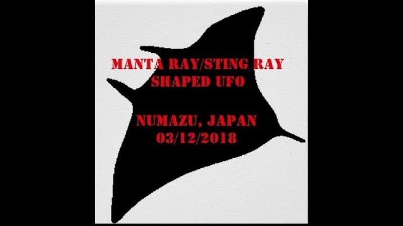 MANTA RAYSTING RAY UFO FILMED OVER NUMAZU, JAPAN - MARCH 12TH 2018