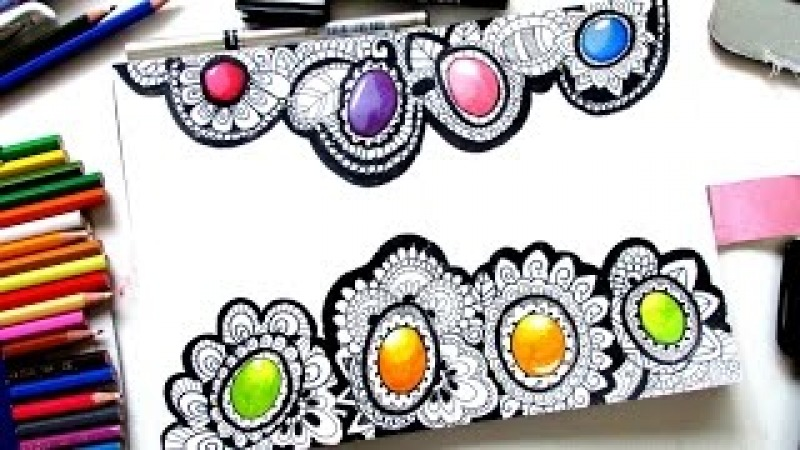 How to Draw Gems in Zentangle 💎