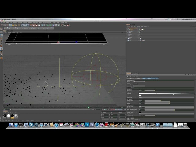Cinema 4D r12 Dynamics Tutorial: Emitter Attractor - AcrezHD