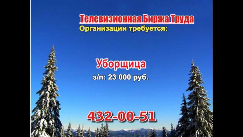 17 января _17.40_Работа в Нижнем Новгороде_Телевизионная Биржа Труда