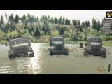 Короткий тест модов грузовиков в SPIN TIRES (Зил 157 Зил 131 Газ 63)
