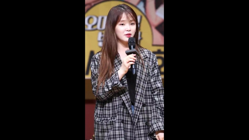 · Fancam · 180422 · OH MY GIRL Seunghee Marry You Bruno Mars cover · Apgujeong Fansign ·