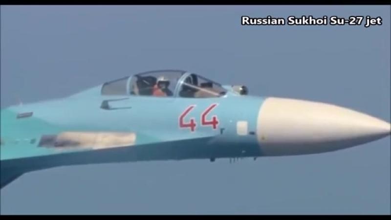 Russian Sukhoi Su-27 Intercepted a U.S. EP-3 Aries Over Black Sea __ Jan. 29, 20
