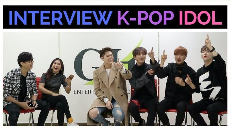 INTERVIEW K-POP IDOL - B.I.G. Kenapa jadi Idol? Rahasia ganteng ldol K-Pop? Tipe Cewe Ideal?