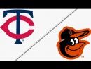 AL 01 04 2018 MIN Twins @ BAL Orioles 4 4