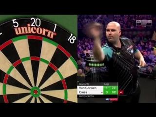 Michael van Gerwen vs Rob Cross (2018 Premier League Darts / Week 1)