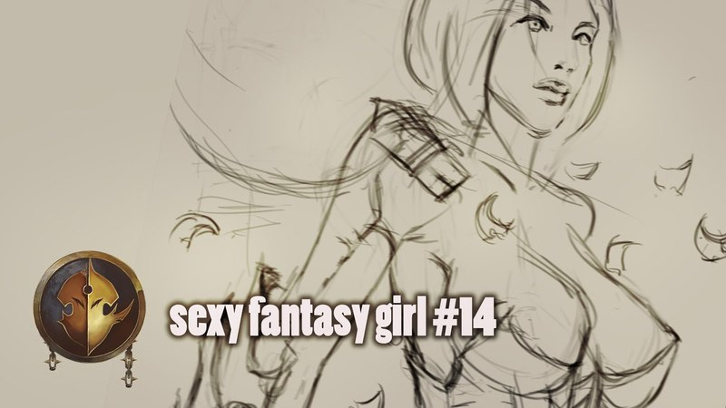 Sexy fantasy girl 14 ► скетчи