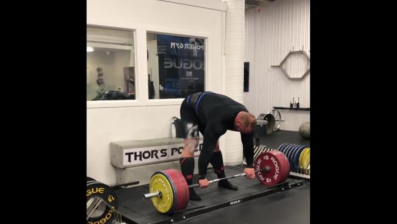 ТОр Бьорнссон - тяга 390 кг на 5