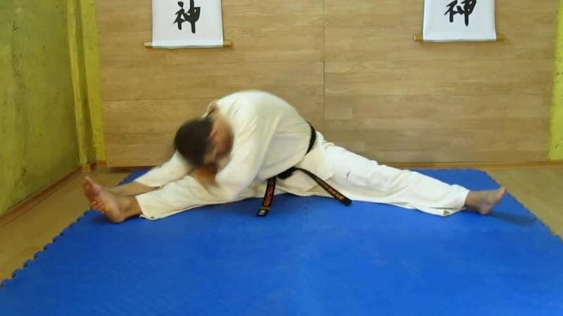 Как_сесть_на_шпагатразминочный_комплексstretching_kyokushinkai_karate_ке
