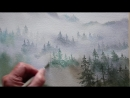 2 watercolor trees in the mist Grant Fuller