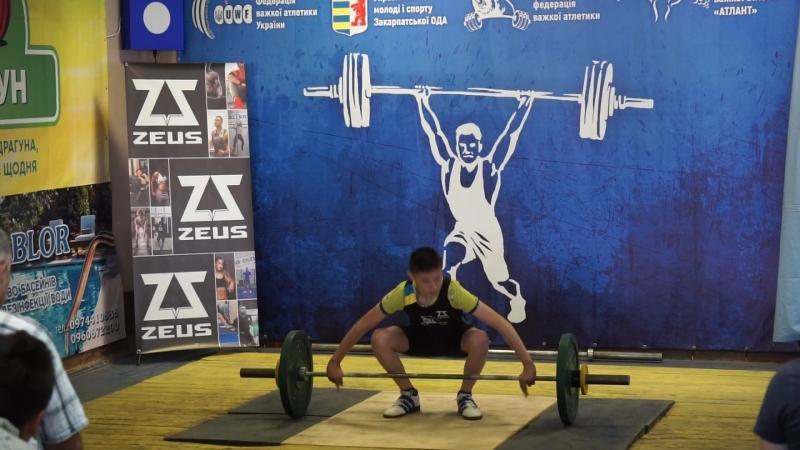 Обласні змагання з важкої атлетики! Ривок 40 кг