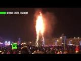 В Южно-Сахалинске сгорела главная городская ёлка