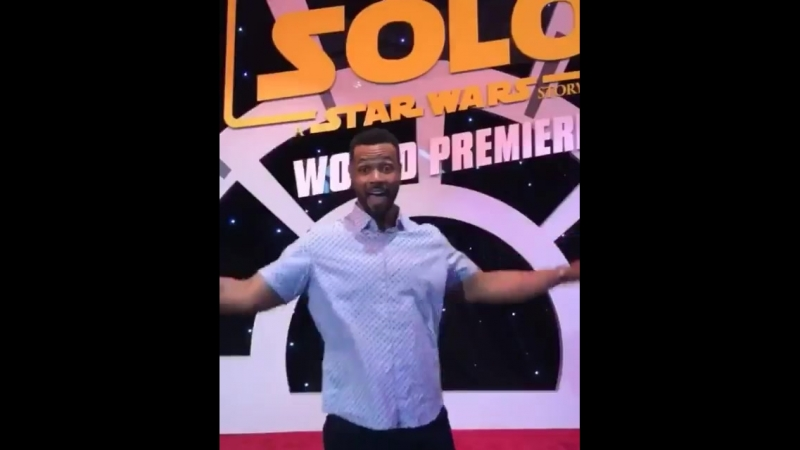 @isaiahmustafa assisted today at the SoloAStarWarsStory Premiere! @starwars Shadowhunters