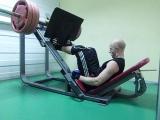 Жим Ногами 165 килограмм Мой вес 64\400 тренировки с нуля за две недели