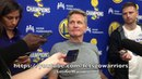 Entire KERR interview: Steph Curry's ankle as close to 100% as can be , Durant/Klay/Draymond update