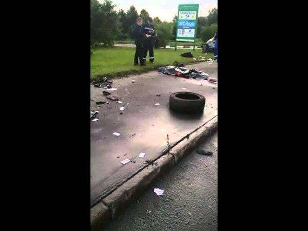 Ужасная авария машину разорвало на куски