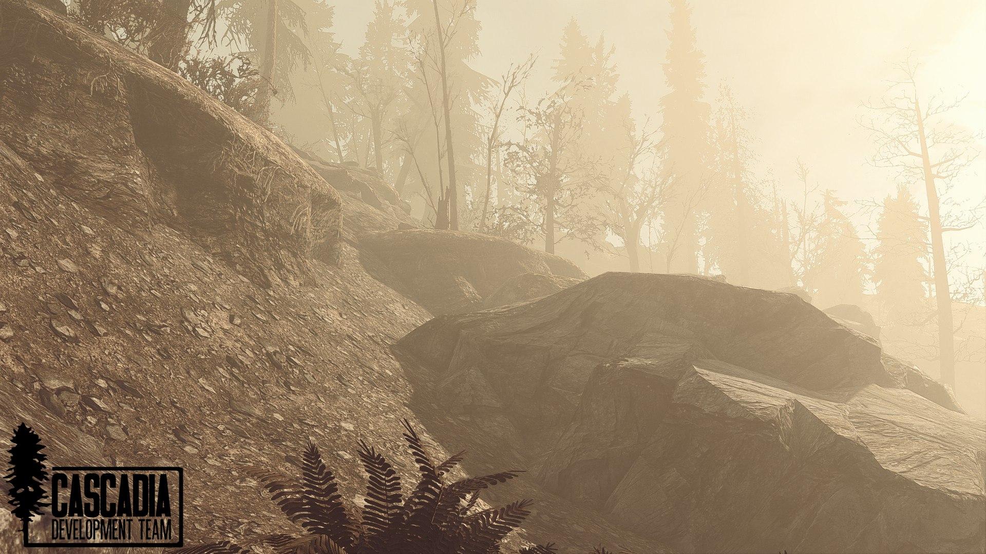 Разработчики Fallout Cascadia глобального мода для Fallout4 продолжают работу, вот пару скриншотов: