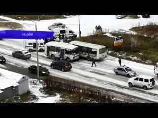 Обзор аварий. ДТП на ул. Щорса, пострадала водитель