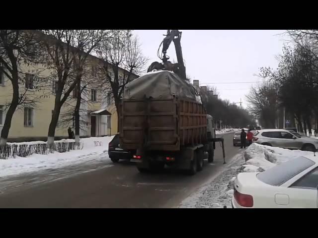 Скоро в России! Эвакуатор будушего или штраф за неправильную парковку! Прикол
