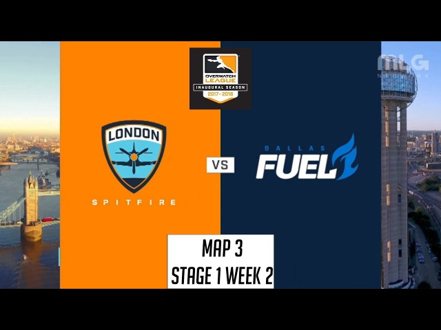 London Spitfire vs Dallas Fuel (Map 3: Oasis) | OWL S1: Stage 1 Week 2