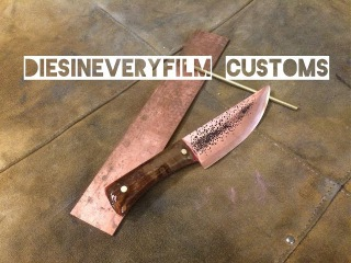 Making A Knife From Copper with maple burl handle
