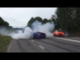Kevins Volvo 745 b230 500whp Street drifting and close tandem