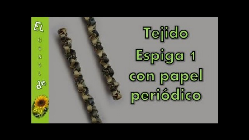 Tejido espiga 1 con papel periódico - Fabric pin 1 with newspaper