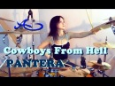 PANTERA - Cowboys from hell drum cover by Ami Kim (Female drummer)