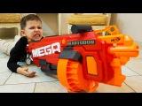 Bad Kids HALLOWEEN PUMPKIN MEGA NERF Johny Johny Yes Papa Nursery Rhymes Song Compilation for kids