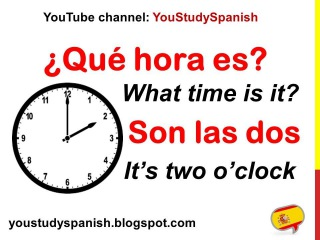 Spanish Lesson 14 - WHAT TIME IS IT in Spanish QUÉ HORA ES How to tell time in Spanish Decir la hora