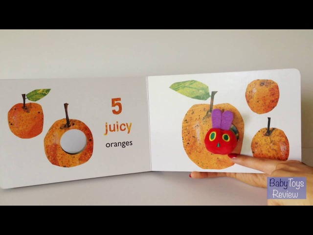 Read aloud The very hungry caterpillar's finger puppet book reading and counting for kids