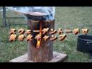 焚き火キャンプ!スウェーデントーチの幻想的な炎でキーマカレーを 20316