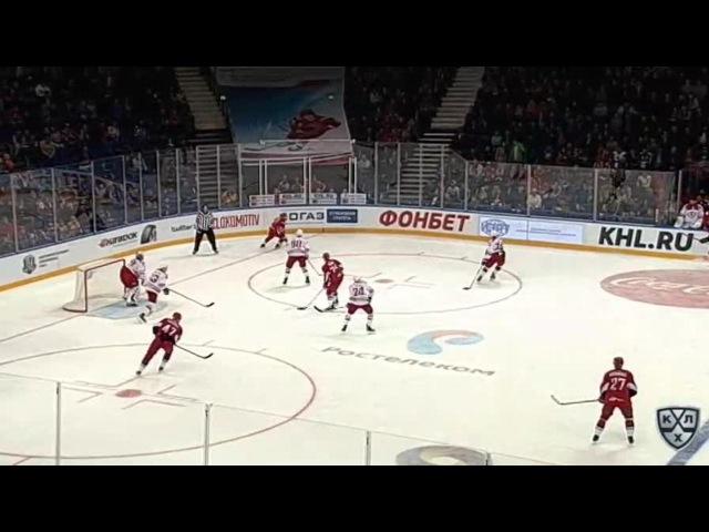 Моменты из матчей КХЛ сезона 16/17 • Гол. 1:0. Петри Контиола (Локомотив) открывает счет в матче 11.09