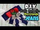 Como hacer un moño corbatín reciclando Jeans/ bow brooch/ moño victoriano