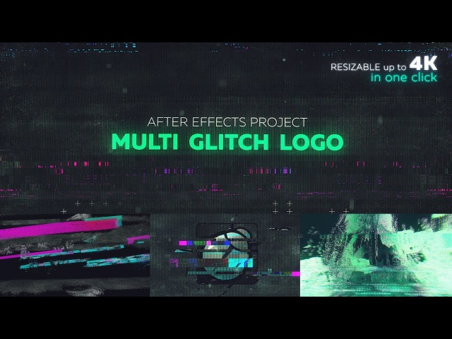 Multi Glitch Logo AE template made with Motion Bro