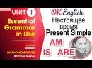 Unit 1 Настоящее время в английском и слова AM, IS, ARE   OK English elementary